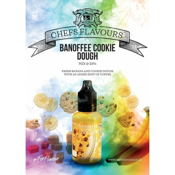 Chefs Flavours / Banoffee Cookie Dough 10ml aroma