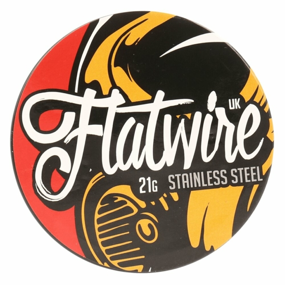 Flatwire UK / Stainless Steel 21AWG / 10ft