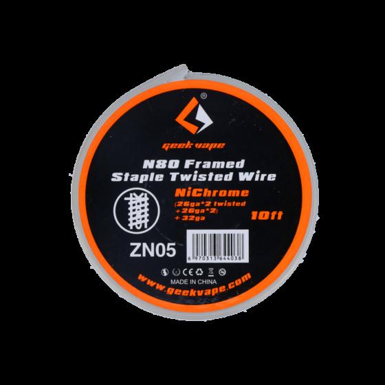 GeekVape N80 Framed Staple Twisted (26GA*2+ 26GA*2) + 32GA  15FT/4,57M ZN05