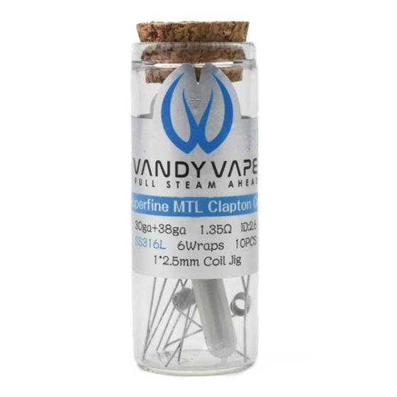 VandyVape / Prebuilt SS316L Superfine MTL Fused Clapton Coil 1.35 Ohm / 10db