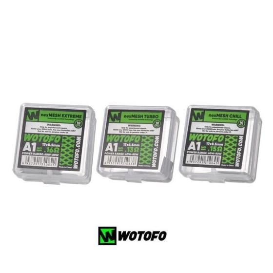 Wotofo nexMESH Turbo / 10 х Mesh Coil / Kanthal A1 - 0,13 Ohm